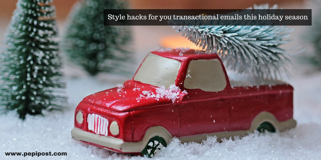 transactional emails this holiday season