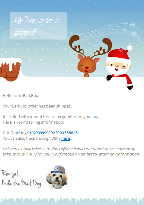 holiday season transactional email