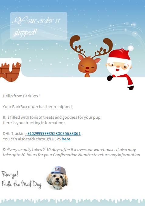 holiday season transactional email