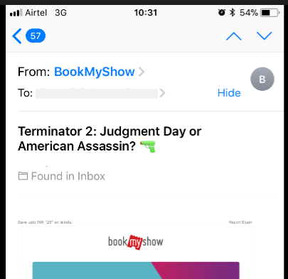 emoji in email - mobile view