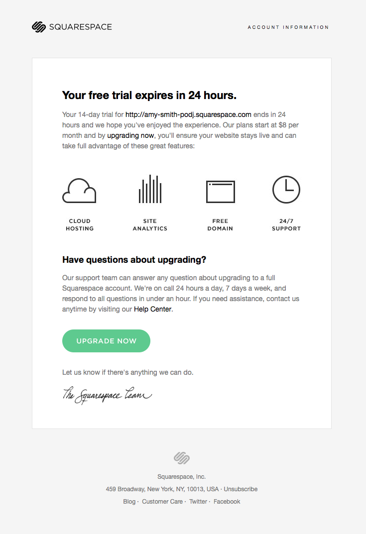 Squarespace Trial Expiration