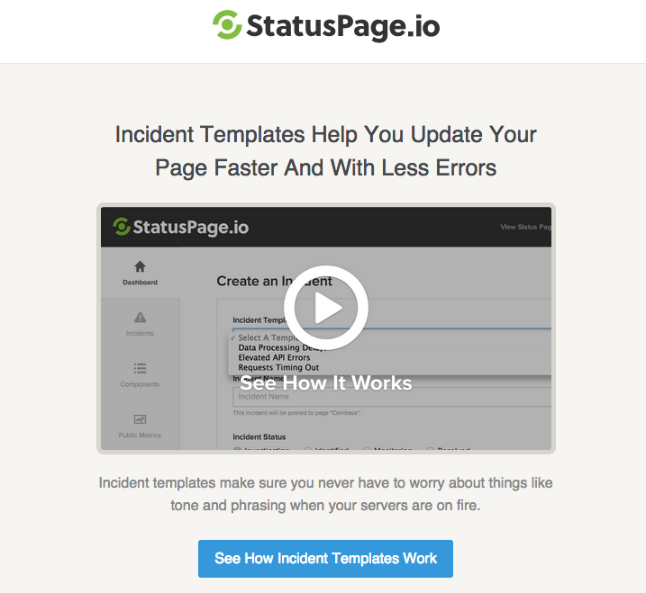 statuspage.io Tips