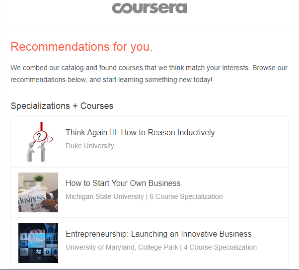 coursera-email marketing